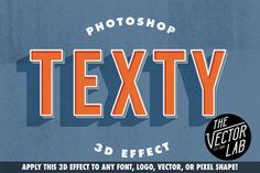 Texty Photoshop Effect by TheVectorLab on Creative Market #photoshop #typography