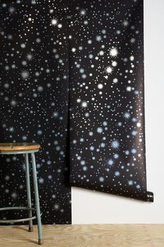 Graham & Brown Star-Struck Wallpaper. How cool would this be in a little astronaut's room?