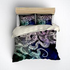Midnight Octopus Bedding