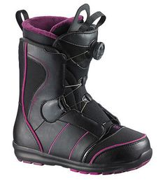 Scarponi Donna Snowboard Boot Woman SALOMON PEARL BOA - 2014/2015 MP 24 - EU 38 2/3 Scarponi Donna Snowboard Boot Woman SALOMON PEARL BOA - 2014/2015 Prezzo di listino €. 220,00Simple, fast, and feminine—The Pearl BOA only requires 3 steps before you are one with your boot and loading the chairlift with ease. Slide into the Classic Footbed, tighten down the Silver Liner, and Crank the BOA coiler. Now Shred!Technology FOOTBED Classic footbed FLEX Soft FLEX # 4 OUTSOLE