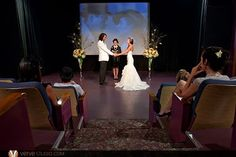Inspiration for a wedding cermony in a theater