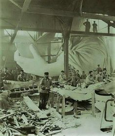 Statue of Liberty construction.
