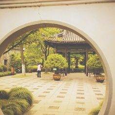 #tbt Oct 23 2011, my first time in #China and today the news that I'm gonna live next Friday to go there again!!! 🙌 can't wait ✌ #Asia #Ningbo #Park #MoonLake #Yuehu #round #architecture #doorway #glimpse #ethnic  #perspective #green #vsco #vscofilter #S3 #vscocam #vscostyle  #vscovibe #vscodaily #travel #journey #beige #vu_beige