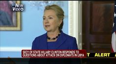 """Clinton laughs when discussing Benghazi, fails to look at camera. Killery says, """"Posting something on Facebook is not in and of itself evidence, and I think it just underscores how fluid the reporting was at the time and continued for some time to be."""" *HOW FLUID THE REPORTING WAS!  They WATCHED it HAPPEN in REAL TIME! The (fluid) REPORTING was due to killery & the"""