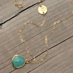 Mint Monogram 14K Gold-Filled Necklace