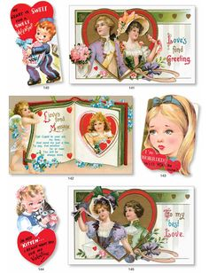 VINTAGE VALENTINES CD-ROM and Book by: Carol Belanger Grafton  -  Dover Publications FULL PAGE 5
