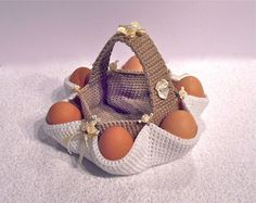 003 Easter egg hunt basket. Crochet Pattern PDF file by Sharapova Etsy on Etsy, $3.50