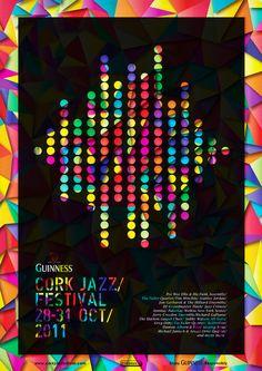 Cork Jazz Festival Poster by Basia Kozlik Collage Poster, Musikfestival Poster, Poster Layout, Jazz Festival, Festival Posters, Design Festival, Folk Festival, Inspiration Wand, Poster Design Inspiration