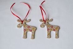 Buy 5 and get 1 free!  Pretty Wooden Reindeer ornament for the home decoration. Acrylic paints are used for painting.  House size: tall 3,15 in (8 cm) wide 3,1 in (7,5 cm)  SHIPPING: Your Reindeer ornament will be shipped to you professionally packed with protective packaging material and shipped with TRACKING NUMBER.  Reindeer ornament will decorate your home and will be a perfect gift for your loved ones. I hope my Christmas ornaments will bring love and harmony to your life. Thanks for…