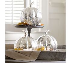 HOW TO MAKE A POTTERY BARN MERCURY PUMPKIN KNOCKOFF