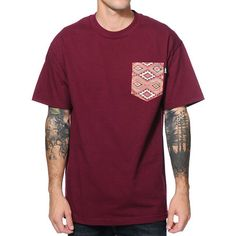 Assert your style dominance like the Alpha male you are with the Bohnam Delta maroon pocket tee shirt. While everyone else is concerning themselves with meaningless trials and tribulations you can take the winner's podium with your on point Delta maroon p