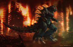 Mecha Godzilla Final Image by NoBackstreetboys.deviantart.com on @deviantART