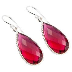 Sitara Collections Handmade Jewelry  Silverplated Faceted Garnet Earrings *** You can find out more details at the link of the image.