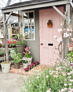 """1,086 Likes, 60 Comments - Catherine Carton (@daintydressdiaries) on Instagram: """"Today I visited the cutest garden centre ever! @thegarden_house the pink door I treated myself…"""""""