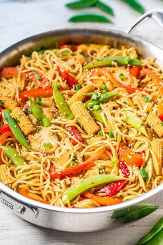 Easy Sweet and Sour Asian Noodles - So much flavor in these easy noodles that are ready in 30 minutes!! Plenty of vegetables add great crunch! You won't miss takeout when homemade tastes way better and is healthier!!