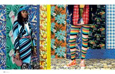 Emily Shur photographs patterned fashions
