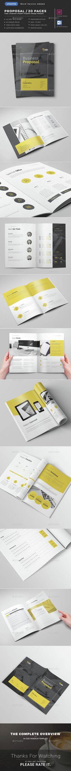 Commercial Proposal Format Brilliant Commercial Proposal Template #09  Commercial Proposal  Pinterest .