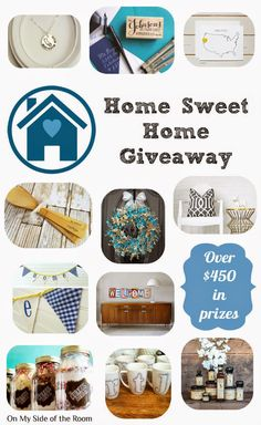 Home Sweet Home Giveaway http://onmysideoftheroom.blogspot.com/2014/11/home-sweet-home-giveaway.html