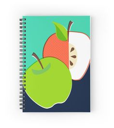Notebook Retro Apple Spiral Bound Pad with by SamOsborneStore