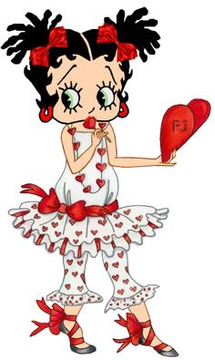 BETTY BOOP, CELEBRATING VALENTINES....<3