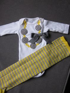Necklace applique onesie for baby girl and by TheModishLife, $24.00