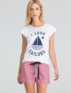 "women'secret | Productos | Pijama corto ""I love sailors"""