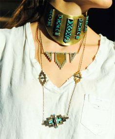Empire w/ Wings Necklace by Pamela Love