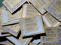 DIY business cards by myf mash, via Flickr