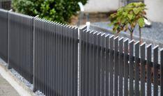 zaun-zentrum: Stabausführung Patio Fence, Front Yard Fence, Diy Fence, Backyard Fences, Fence Gate Design, Modern Fence Design, Railing Design, Aluminum Fence, Metal Fence