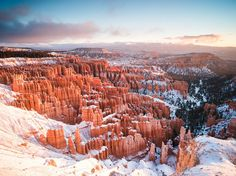 Your Shot member Nick Ocean caught the first snow of the season in Utah's Bryce Canyon National Park in November 2015. This early morning shot, taken from the aptly named Sunrise Point, required some off-road driving and skirting around a downed tree. All that work earned Ocean the privilege of being the only person in the park to enjoy this particular scene.