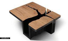 Журнальный столик «Гнилое дерево». дизайнер Dylan Gold.