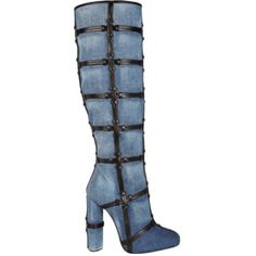 Pre-owned Tom Ford Patchwork Denim Boots ($2,500) ❤ liked on Polyvore featuring shoes, boots, denim, patchwork boots, denim boots, tom ford boots, tom ford and pre owned shoes