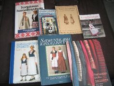 Books on Finnish folk costumes. Folk Costume, Costumes, Marimekko, Welsh, Finland, Celtic, Scandinavian, Learning, Books