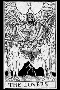 The Lovers Tarot Card stretched canvas by ShayneoftheDead on Etsy, $20.00
