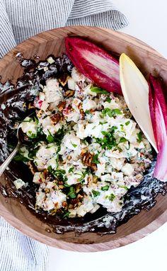 Creamy Autumn Chicken Salad with Apples & Pecans recipe using Just BARE Chicken Pecan Recipes, Fall Recipes, Cooking Recipes, Chicken Salad With Apples, Grilled Chicken Salad, Salad Bar, Soup And Salad, Healthy Salad Recipes, Healthy Meals