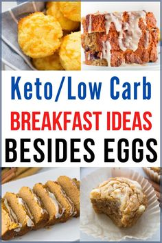 This Keto Biscuits Recipe makes an easy and delicious low carb breakfast. You can enjoy them as is or stuff them with crispy bacon, cheese, and eggs. Low Carb Breakfast, Breakfast Recipes, Breakfast Ideas Without Eggs, Low Card Breakfast Ideas, Breakfast Options, Low Carb Recipes, Diet Recipes, Diet Meals, Soup Recipes