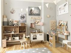 Neutral kids playroom inspiration with natural wood, grey an.- Neutral kids playroom inspiration with natural wood, grey and white. Montessori … Neutral kids playroom inspiration with natural wood, grey and white. Gray Playroom, Playroom Design, Playroom Decor, Wall Design, Playroom Ideas, Kid Playroom, Basement Ideas, Wall Decor, Montessori Playroom