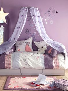 butterfly pattern sheer bed canopy