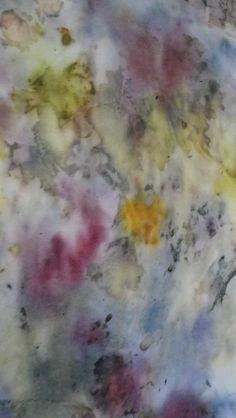 eco print su seta - Titti Rossi