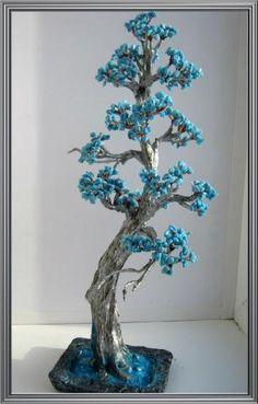Голубая сосна из каменной крошки