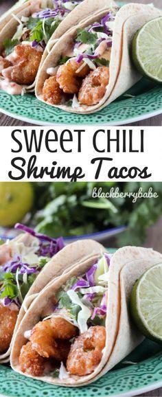 Crispy Sweet Chili Shrimp Tacos