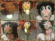 My newest creation ! Adult lion hats now available ! Handmade crocheted ! (85.00)