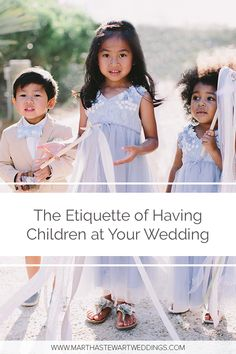 Get expert-backed answers to all of your pressing questions about inviting (or not inviting) kids to your celebration. Wedding With Kids, Our Wedding, Wedding Guest Etiquette, Martha Stewart Weddings, Handfasting, Guest List, Vows, Big Day, Weddingideas