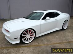 Custom Red and Black Rims | Custom Cars and More Dodge Challenger on Savini Wheels (3) | Custom ...