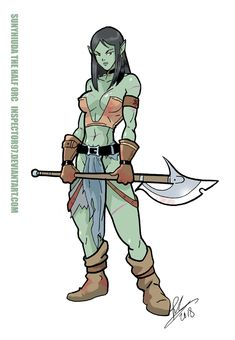 Sunyhiuda the Half Orc by Inspector97