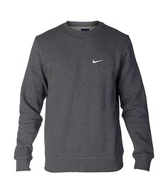 NIKE Crew neck sweatshirt Long sleeves Soft inner fleece for ultimate comfort Embroidered swoosh on chest Cotton for comfort