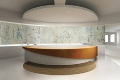 James Latham ensures an ideal reception Curved Reception Desk, Curved Desk, Reception Desk Design, Lobby Reception, Reception Counter, Office Reception, Reception Table, Office Interior Design, Office Interiors
