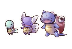 Cute Squirtle Evolutions