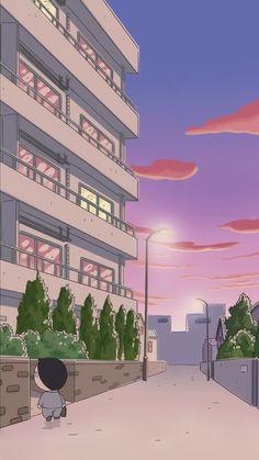 Sinchan Wallpaper, Anime Scenery Wallpaper, Cute Anime Wallpaper, Wallpaper Iphone Disney, Aesthetic Pastel Wallpaper, Cute Wallpaper Backgrounds, Cute Cartoon Wallpapers, Tumblr Wallpaper, Aesthetic Wallpapers