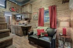 Log Cabin Shipping Container Tiny Home 002